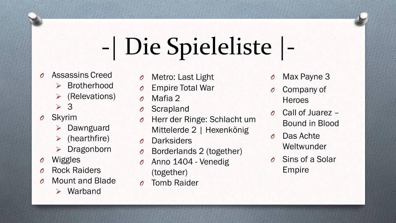 Spieleliste