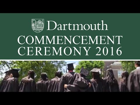 Dartmouth College Commencement 2016