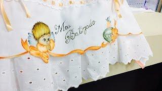 Pintura em Fralda Meu Batizado