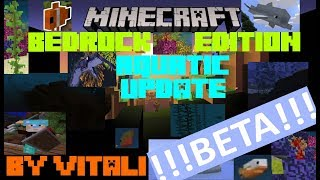 MineCraft Bedrock Edition Aktuality 1.3 The Aquatic Update Beta 1 Představení Novinek By Vitali