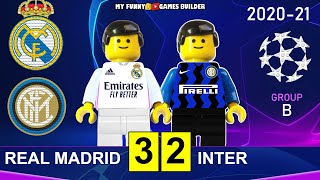 Real Madrid vs Inter 3 2 Champions League 2020 21 in Lego All Goals Highlights Lego Football