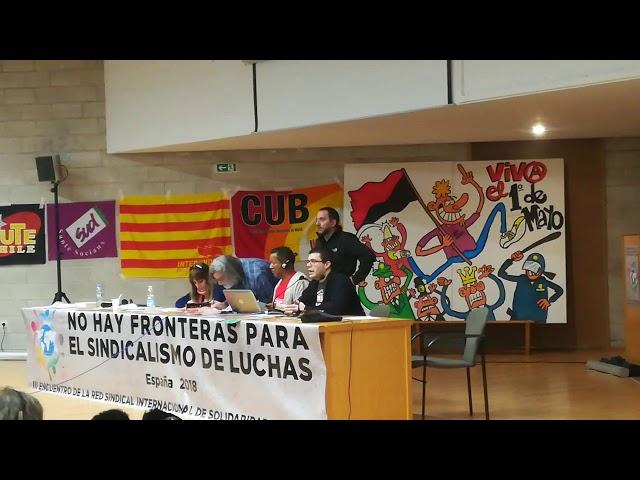 Madrid. Intervento di Matteo Frigerio (FLNA) III Congresso RSISL