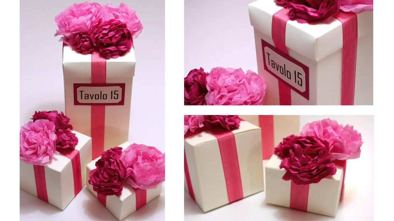 Centrotavola scatole con fiori di carta trailer - Decorazioni con fazzoletti di carta ...