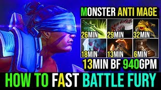 Insane Monster AM [Anti Mage] How to Fast Battle Fury 940GPM By Xcalibur 7.19d | Dota 2 FullGame