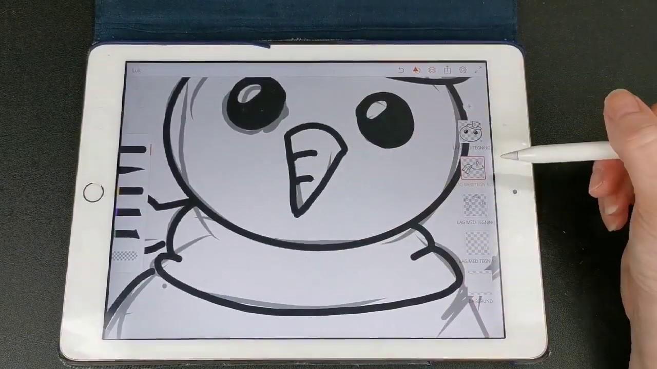 Bonus afsnit! Sådan tegner jeg mine illustrationer på Ipad