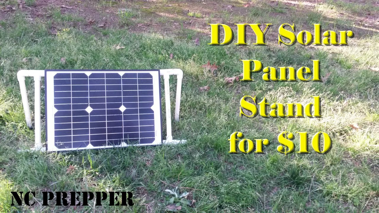 Diy Portable Solar Panel Stand For 10 Youtube