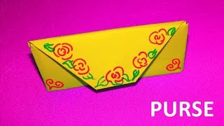 Origami for kids. How to make an origami purse. Educational videos and tutorials for children.