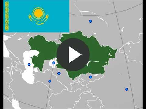 Neighbours of Kazakhstan, Caspian Sea , Aral Sea, game for geography education and travel