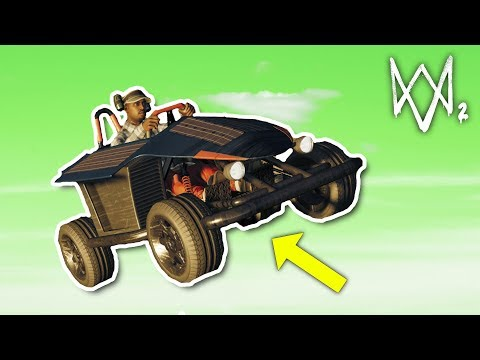 ESCAPING POLICE IN A GO KART | Watch Dogs 2 Free Roam