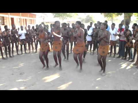 School children in Botswana singing for us