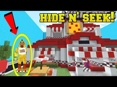 Minecraft: FIVE NIGHTS AT FREDDY'S HIDE AND SEEK!! - Morph Hide And Seek - Modded Mini-Game