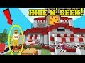 Minecraft: FIVE NIGHTS AT FREDDY'S HIDE AND SEEK!! - Morph Hide And Seek - Modded Mini-Game