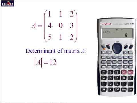 Matrix Calculation Using Calculator