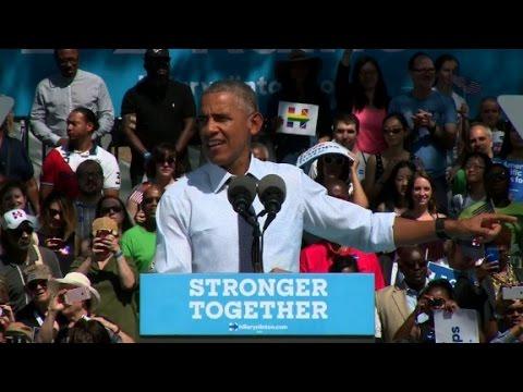 Obama: I am really into electing Hillary Clinton