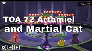 TOA 72 Artamiel and Dark Martial Cat Miho - Summoners War Hard TOAH