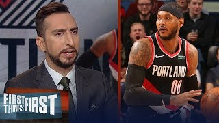 Melo's hardest adjustment will be accepting a tertiary role with Blazers | NBA | FIRST THINGS FIRST