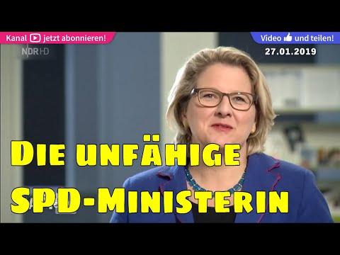 ▶Volksverarschung: Svenja Schulze (SPD-Umweltministerin) unfähig um Frage zu Tempolimit zu antworten