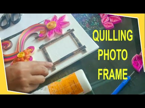 Quilling wall art / altered canvas / tutorial from scratch /personalized gift