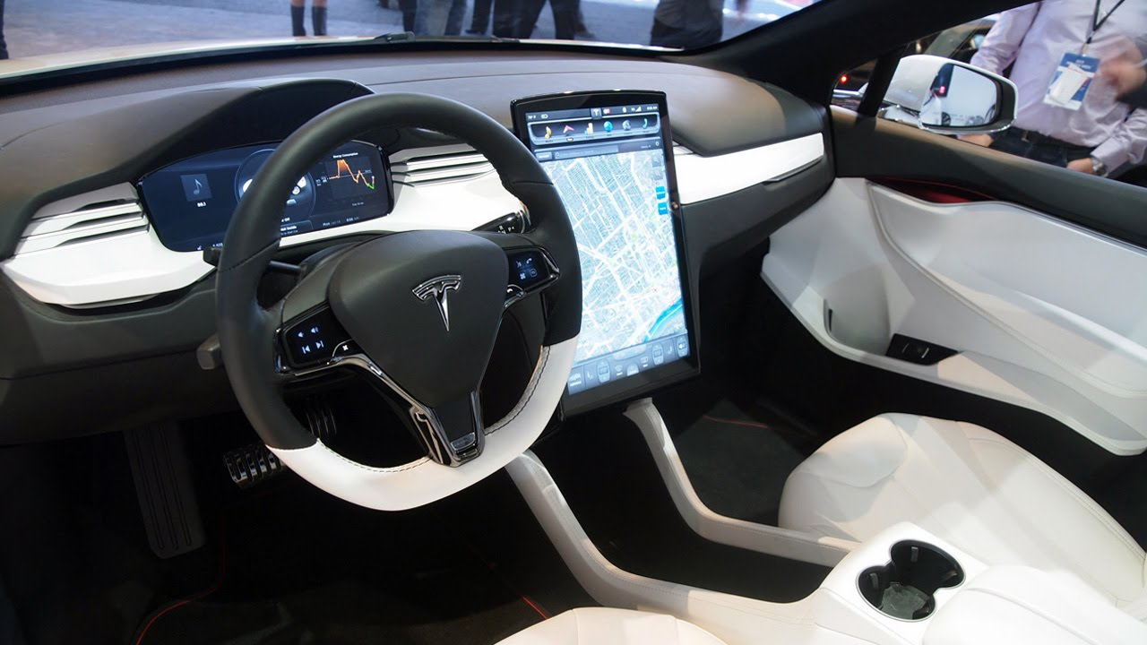 tesla model x interior 2015 youtube. Black Bedroom Furniture Sets. Home Design Ideas