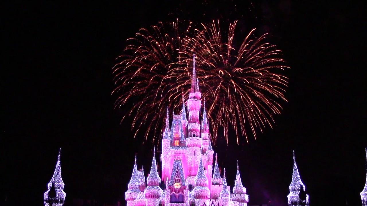 Cinderella Castle Christmas Lights.Wishes Finale With Cinderella Castle Holiday Christmas Lights The Magic Kingdom
