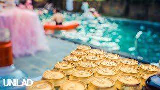 Impressive Basketball Pool Trick Shot | UNILAD