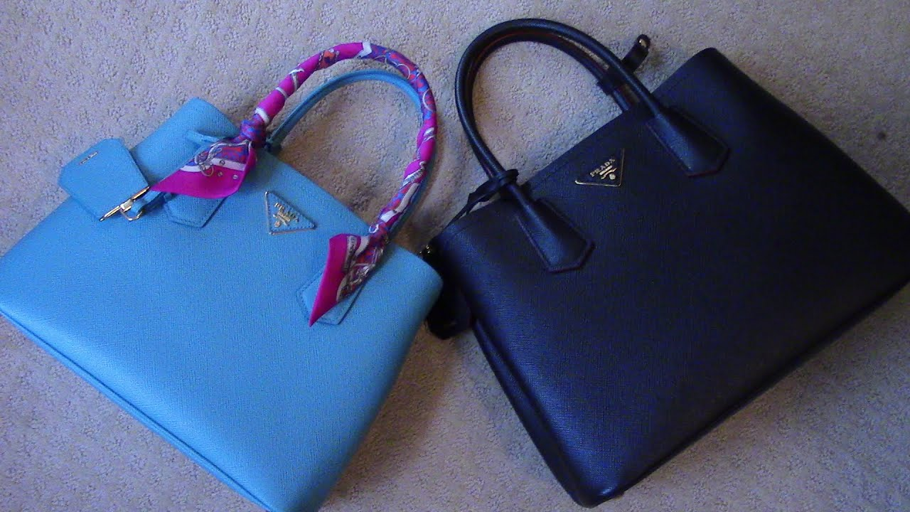 prada handbags replicas - PRADA DOUBLE/CUIR BAG What fits \u0026#39;Small to Mini\u0026#39; - YouTube