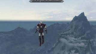 Skyrim Iron Man - flying, shooting, riding, dancing