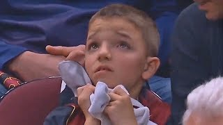 Young LeBron James Fan Nearly In Tears After Cavaliers Getting Blown Out By 20 At Home