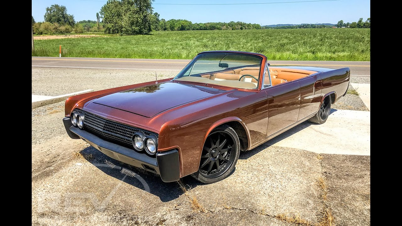 1963 Lincoln Continental ChopTop Convertible - YouTube