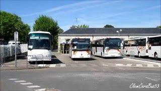 Départ du Bus 4 et du Bus 19 - Manœuvre du Bus 18 et du Bus 17 - Départ du Bus 6