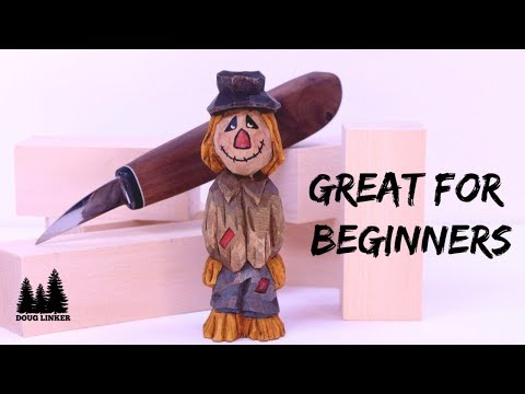 DIY- Carve A Simple Scarecrow From A Block Of Wood
