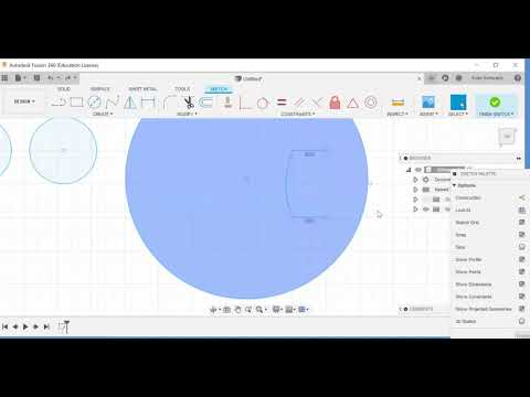 Autodesk Fusion 360 Pac-Man, Offset, Trim, Sketch Scale, Rectangular Patterning, Move, and Copy