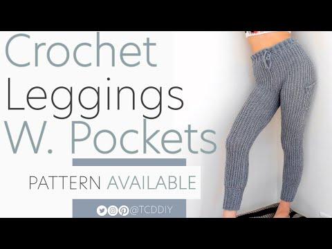Crochet Leggings With Pockets | Pattern & Tutorial DIY