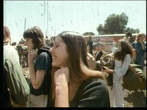 Arriving At Sunbury Rock Festival 1970's
