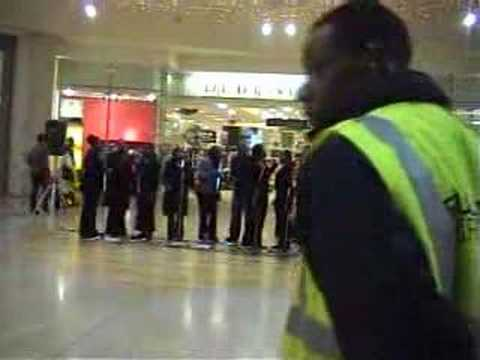 Academy of Gospel Music Choir presentation Birmingham Bull Ring Shopping Centre Christmas 2005