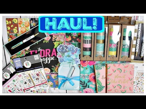 Planner Supplies Haul | Michael's, Marshalls,Hobby Lobby