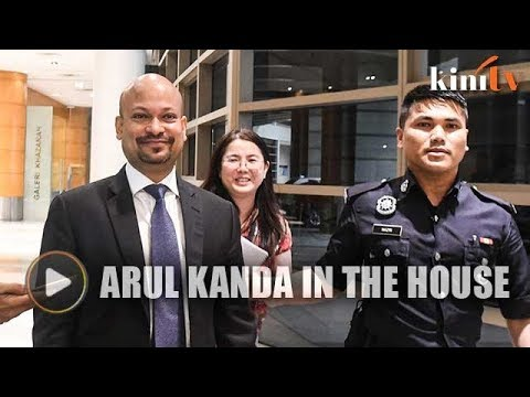 Arul Kanda appears at Finance Ministry