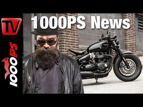 1000PS News - Triumph Bonneville Bobber Black und Speedmaster - Ersteindruck