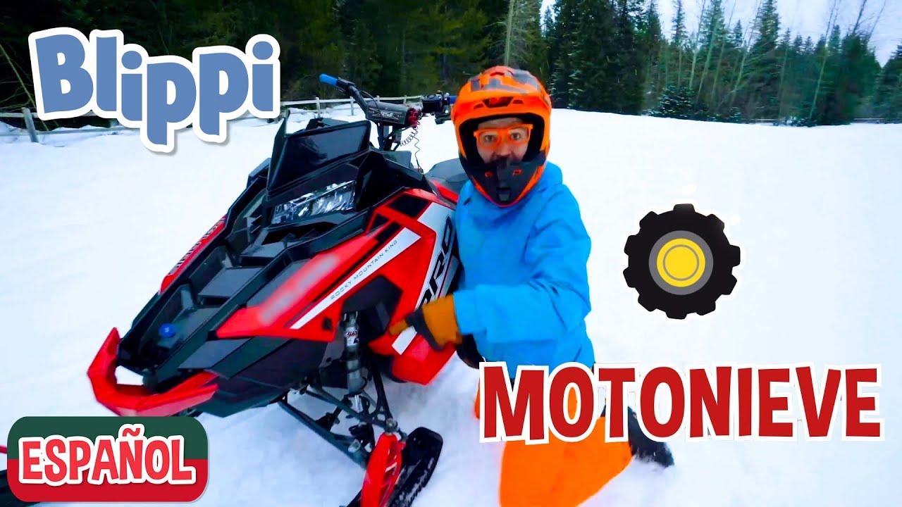 ❄️Blippi explora una Motonieve❄️| Aprendamos sobre motos de nieve  | Videos educativos