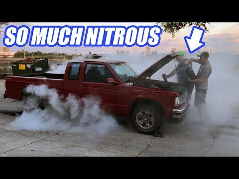 We Try To Blow Up The S10. Will It Survive HUGE Amounts Of Nitrous?