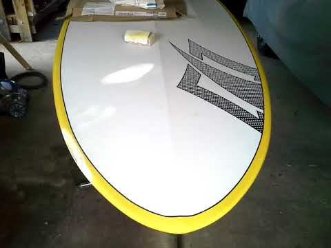 SUP Surfboard epoxy repair Part 1