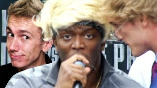 THE KSI VS LOGAN PAUL PRESS CONFERENCE!