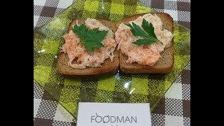 Салат из зеленой редьки на тостах: рецепт от Foodman.club
