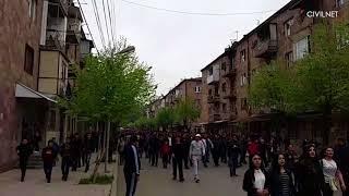 Ցույց Իջանում, ապրիլի 25
