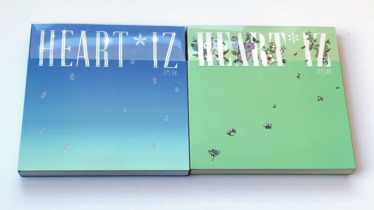 Unboxing IZ*ONE 아이즈원 2nd Mini Album HEART*IZ (Violeta & Sapphire Versions)