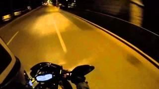 Yamaha MT07 35 kw Akrapovic night ride