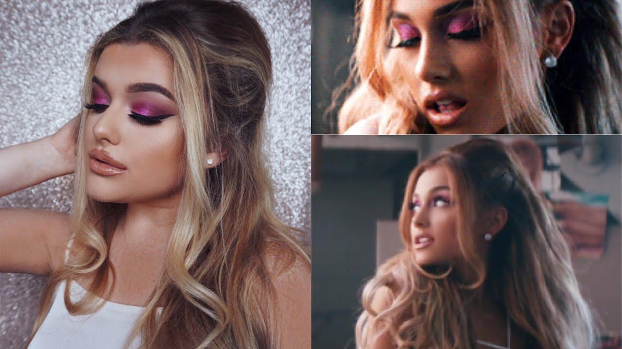 ARIANA GRANDE SIDE TO MUSIC VIDEO O HAIR MAKE UP