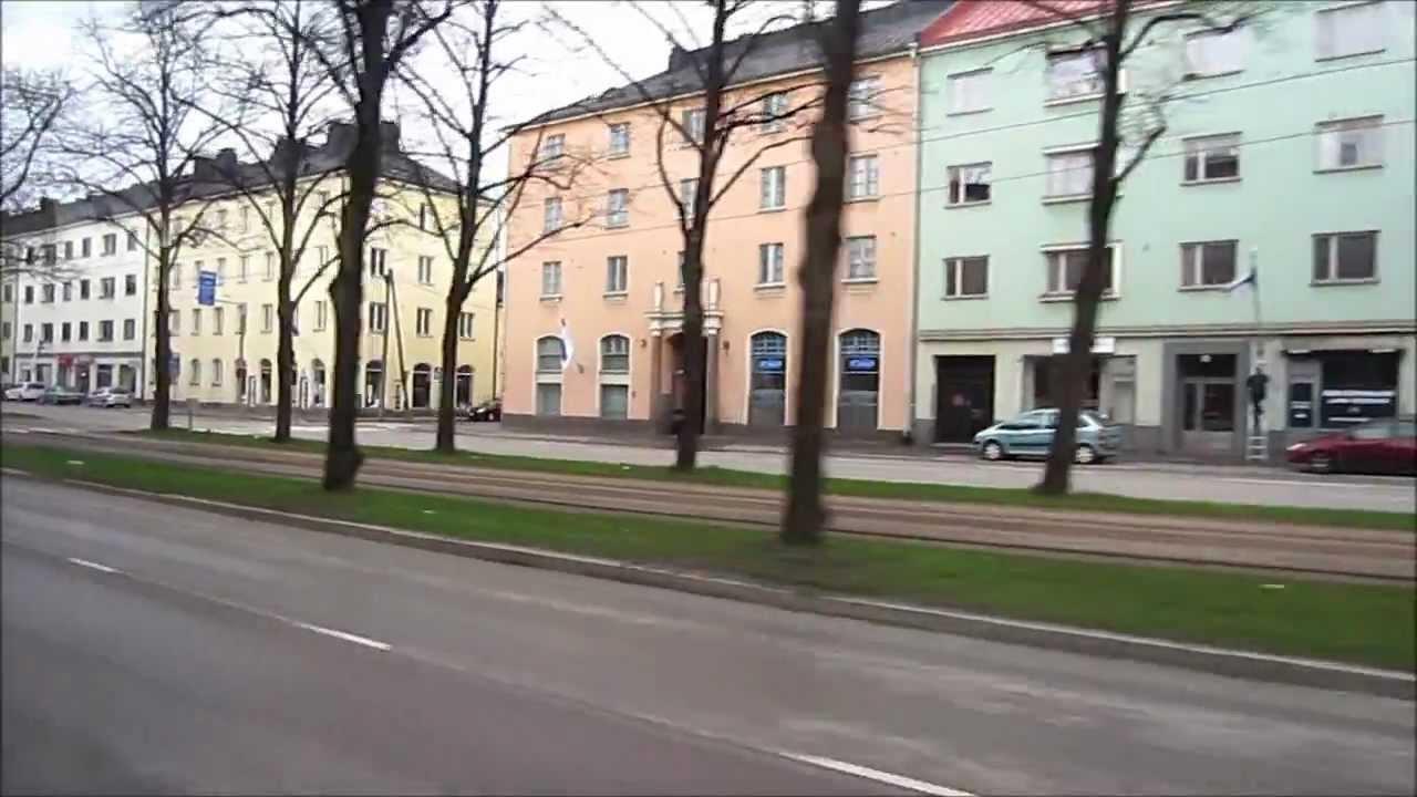Helsinki Bus 615T ride from City Center to Helsinki-Vantaa International Airport, Finland - YouTube