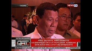 Pres. Duterte, hindi bumoto sa brgy-SK election dahil kaibigan daw niya ang lahat ng kandidato