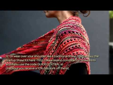 How To Knit A Shawl For Fall With Skeino Diy Crafts Tutorial